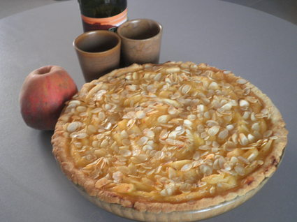 Recette de tarte normande aux agrumes et amandes effilées