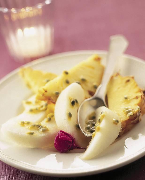 Salade de fruits exotiques à l'eau de rose pour 4 personnes ...