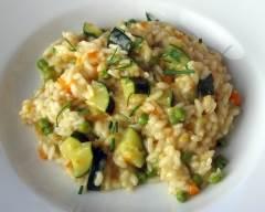 Recette risotto printanier végétarien