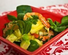 Recette salade de crevettes, avocat et ananas