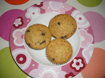 Recette de muffins banane-choco