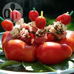 Recette petites brochettes tomates et mozzarella – toutes les ...