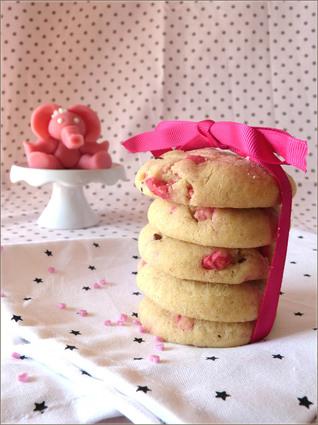 Recette de cookies à la praline rose
