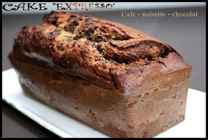 Recette de cake marbré merano café-noisettes-chocolat