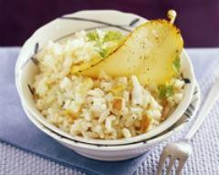 Recette risotto aux poires et au gorgonzola
