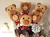 Recette de biscuits oursons de noël en sucettes