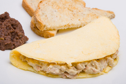 Recette omelette au thon