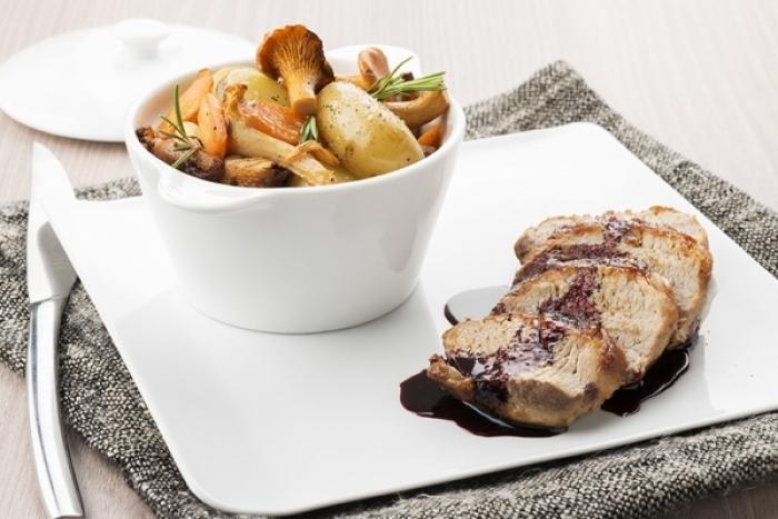 Recette de mignon de porc de l'aveyron, cocotte de légumes et jus ...