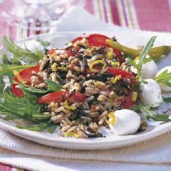 Recette salade de riz sauvage aux tomates et poivrons – toutes les ...
