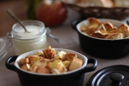 Recette de bread pudding aux pommes