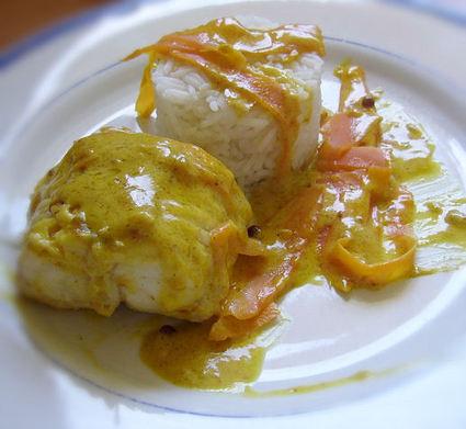 Recette de lotte à la crème safranée et curry