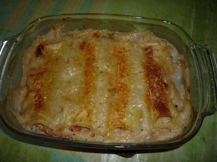 Recette de cannelloni crevettes saumon