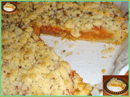 Recette de tarte crumble aux abricots