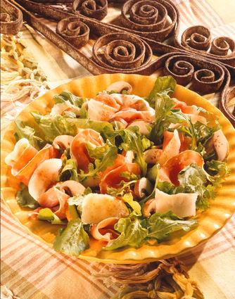 Recette de salade de jambon sec, roquette et parmesan