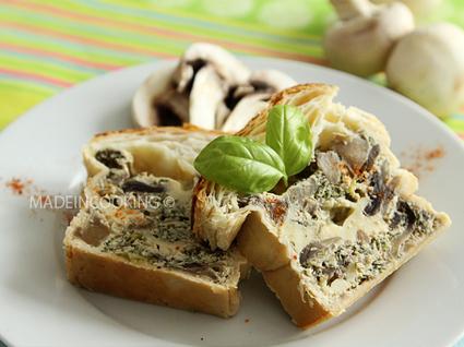 Recette de pâté en croûte aux champignons