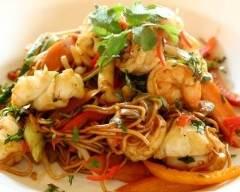 Wok de poissons variés aux légumes sauce aigre doux | cuisine az