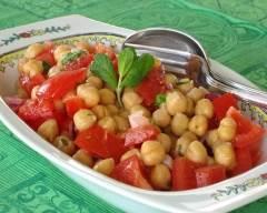 Recette salade marocaine de pois chiches et tomates