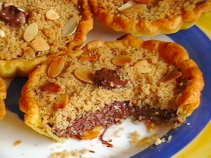 Recette de tartelettes crumble au nutella