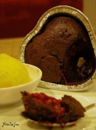 Recette de moelleux chocolat coeur framboises passion