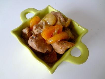 Recette de porc sauté aux abricots secs