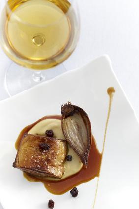 Recette de foie gras de canard des landes rôti, purée de pois ...