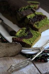 Recette de cake chocolat et thé matcha