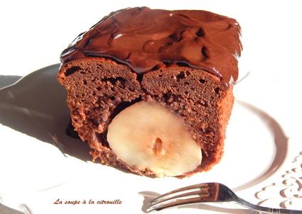 Recette de cake surprise chocolat et poire