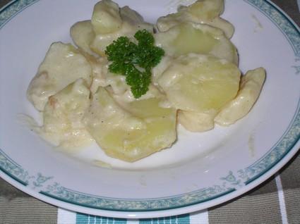 Recette de pommes de terre à la crème et au fromage