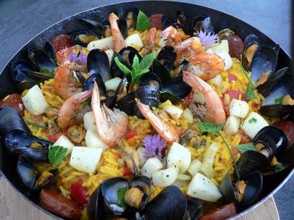 Recette de paella aux fruits de mer