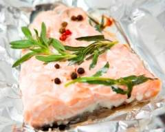Recette papillote de saumon au romarin