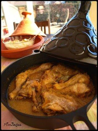 Recette de tajine au poulet et oignons confits