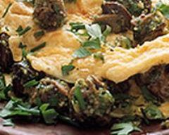 Recette omelette aux courgettes et aux cèpes