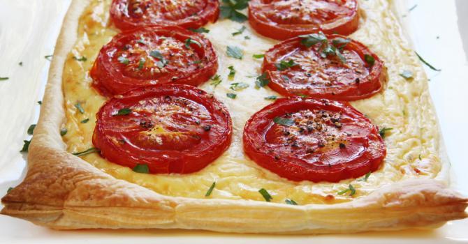 Recette de tarte légère à la ricotta et tomate