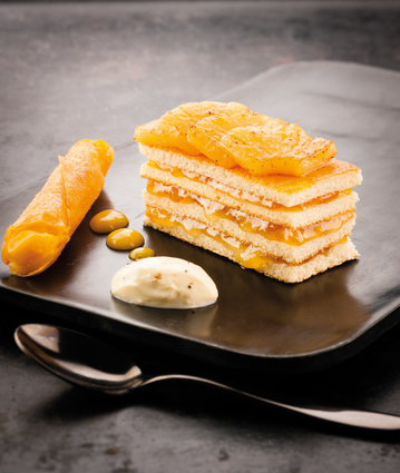 Recette ananas rôti, crème vanille et espuma passion