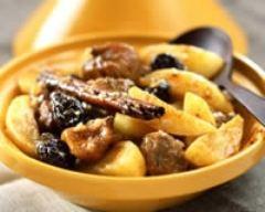 Recette tajine d'agneau aux pommes de terre et fruits secs
