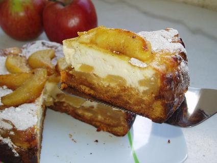 Recette de cheesecake aux pommes caramélisées et pain d'épices ...