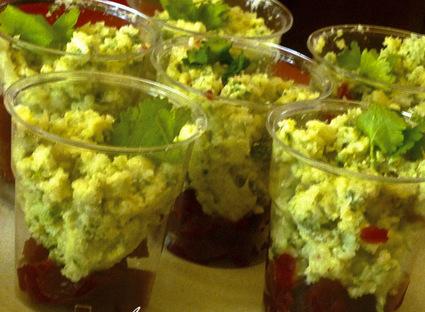 Recette de verrines à la gelée de betteraves et mousse de chou ...