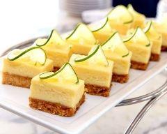Recette petits cheesecakes au citron vert