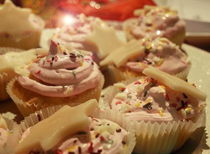 Recette de cupcakes vanille, chocolat blanc et framboise