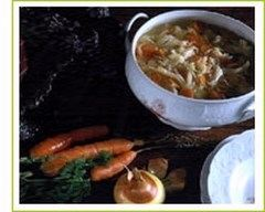 Recette soupe aux choux verts et au lard