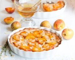 Recette tarte à l'abricot et aux amandes effilées