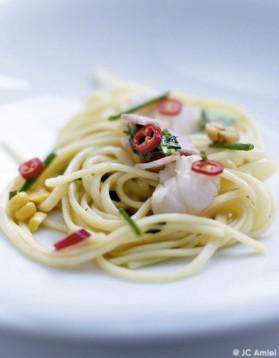 Spaghettis aux langoustines pour 4 personnes
