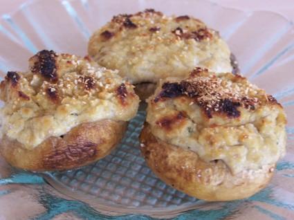Recette de champignons farcis au fromage