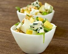 Recette salade de roquette aux poires et à la fourme