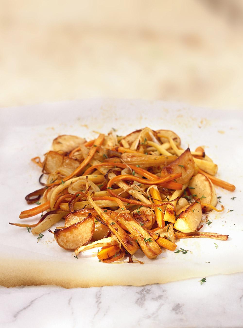 Légumes oubliés caramélisés | ricardo