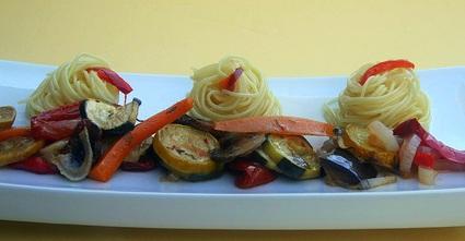 Recette de capellini aux légumes confits