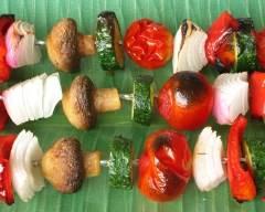Recette brochettes de légumes grillés