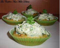Recette cupcakes aux courgettes et chèvre frais