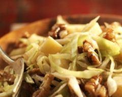 Recette salade de chou blanc, comté et noix