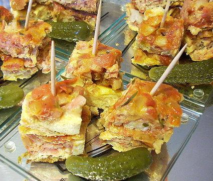 Recette omelette à la tomate et au jambon serrano